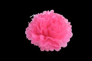 pompoms hochzeit rosa